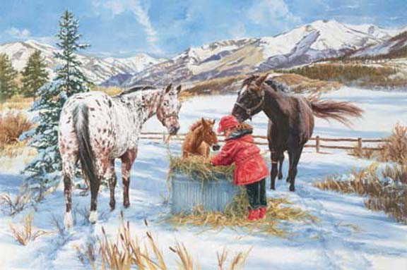 Hoofprints in the Snow by Carla D'aguanno