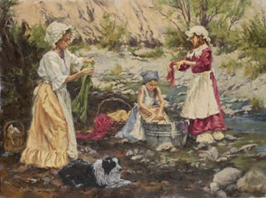 Washing by the Rocky Creek by Carla D'aguanno