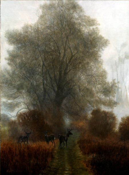 3 Deer Landscape by Matthew Hillier