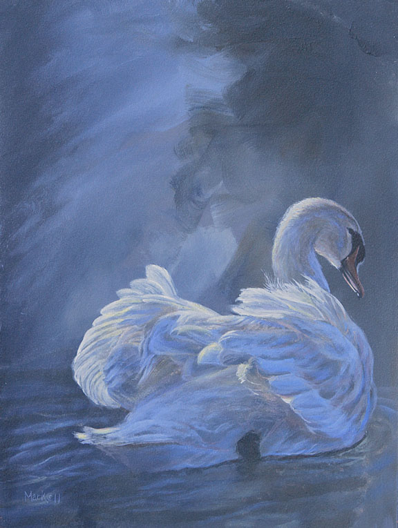 Blue Moon – Swan by Laura Mark-Finberg
