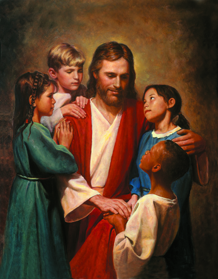 Christ and Children by Del Parson