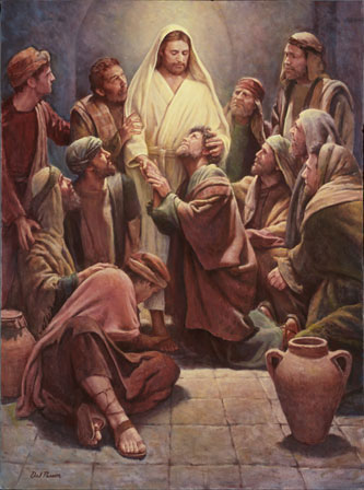 Christ with Apostles by Del Parson