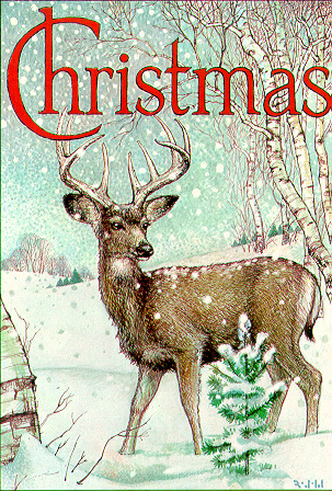 Christmas Deer by Richard Jesse Watson