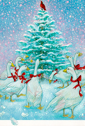 Christmas Geese by Richard Jesse Watson