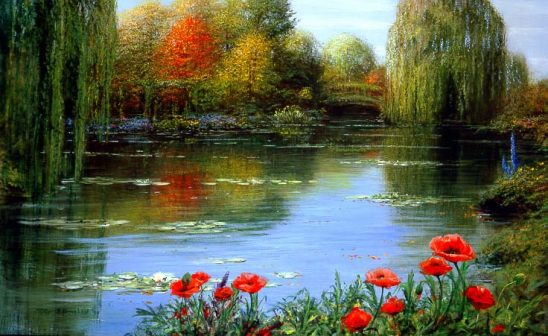 Fall Reflections – Giverny by Peter Ellenshaw #2188