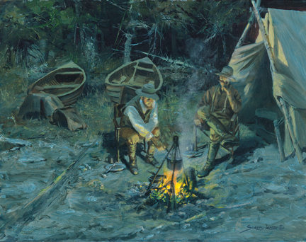 Historic Hunts, North America – Beach Camp by John Seerey-Lester
