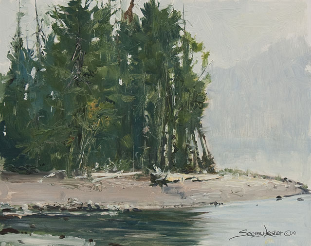 Historic Hunts, North America – Coulter Bay Plein Air by John Seerey-Lester