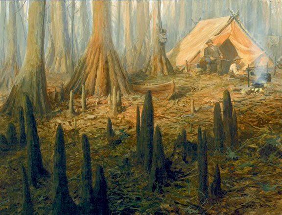 Historic Hunts, North America – Cypress Camp by John Seerey-Lester