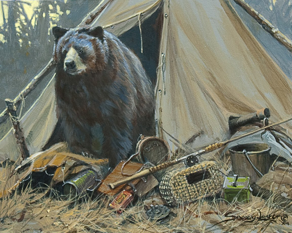 Historic Hunts, North America – Elizabeth's  Bear Study by John Seerey-Lester