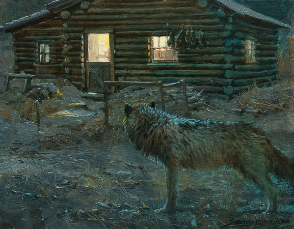 Historic Hunts, North America – Wolf at the Door by John Seerey-Lester