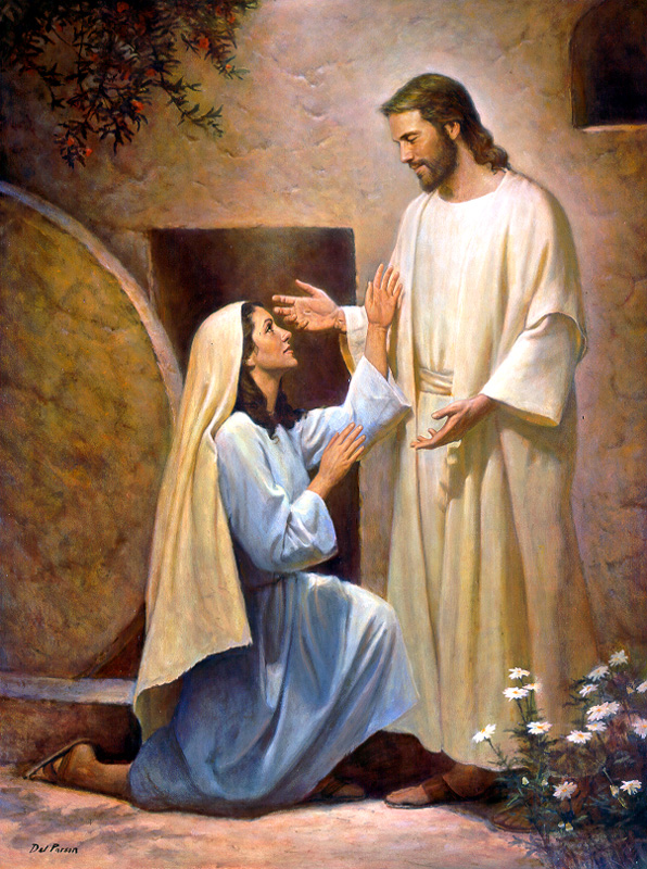 Mary Magdalene with Jesus by Del Parson