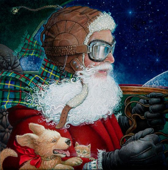 Saint Nick in His Sleigh by Richard Jesse Watson