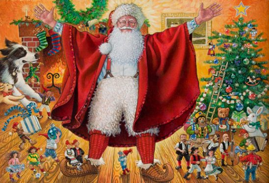 Santa and His Helpers by Richard Jesse Watson
