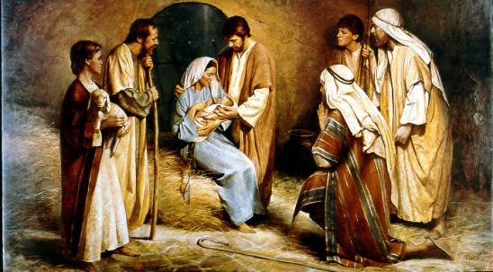 The Birth of Jesus by Del Parson