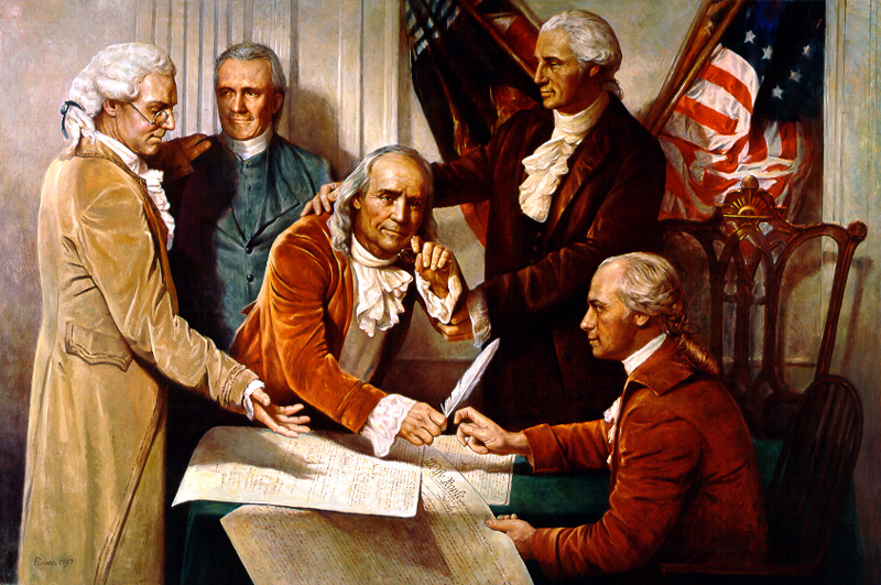 The Old Man Wept The Signing of the US Constitution by Del Parson