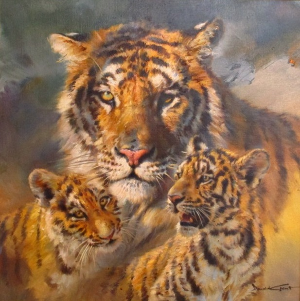 Tiger and Cubs by Donald Grant