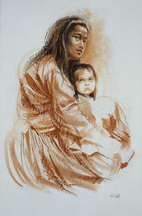 Navajo Madonna by Paul Calle