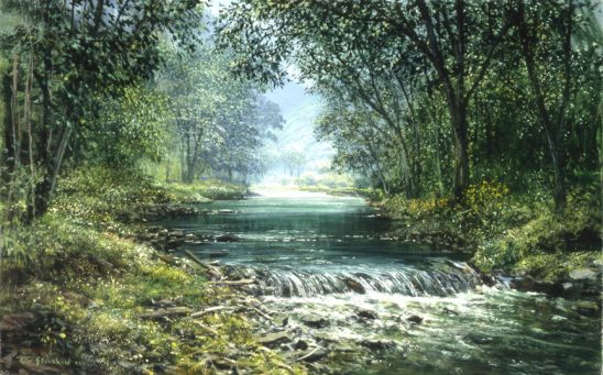 Forest Stream #1980 by Peter Ellenshaw