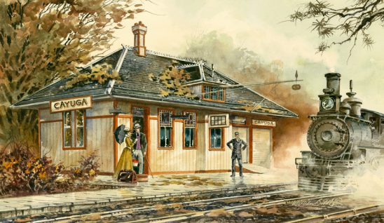 Cayuga Train by William Biddle