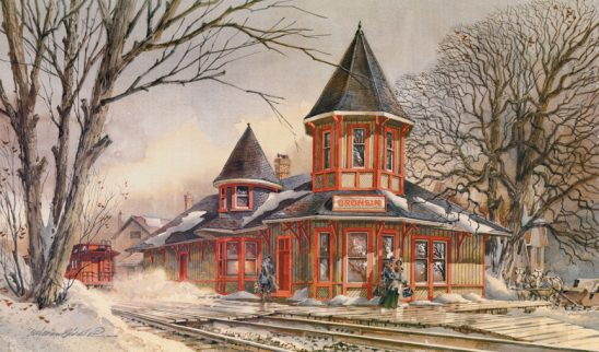 Dronsin Train Station E by William Biddle