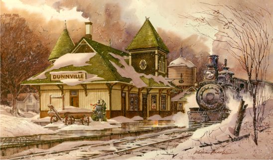 Dunnville Train Station by William Biddle