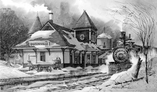 Dunville Train Station BW by William Biddle