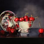 Bowl Full of Cherries by Arleta Pech