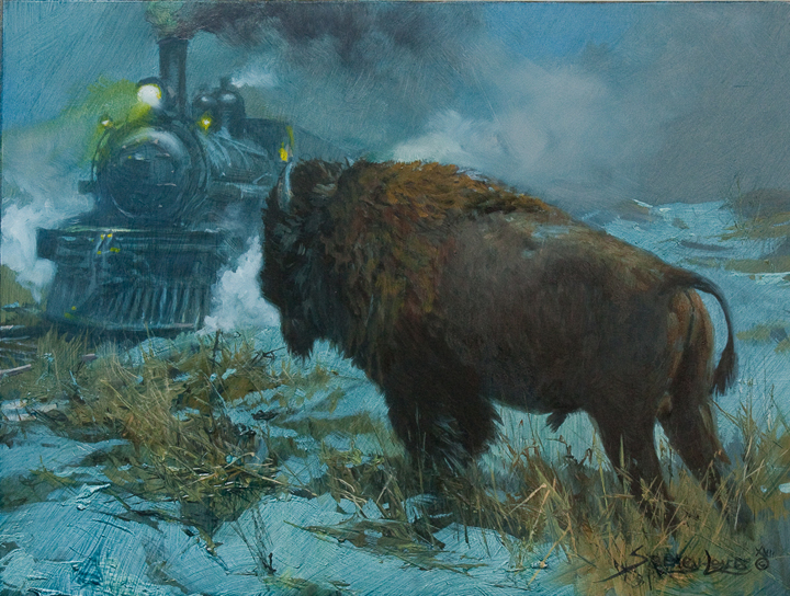 Steaming to Yellowstone by John Seerey-Lester