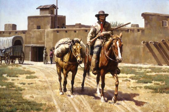 Kit Carson at Bent's Fort by Don Spaulding