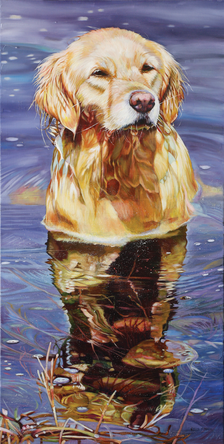 Lady of the Lake – Golden Retriever by Kelly McNeil