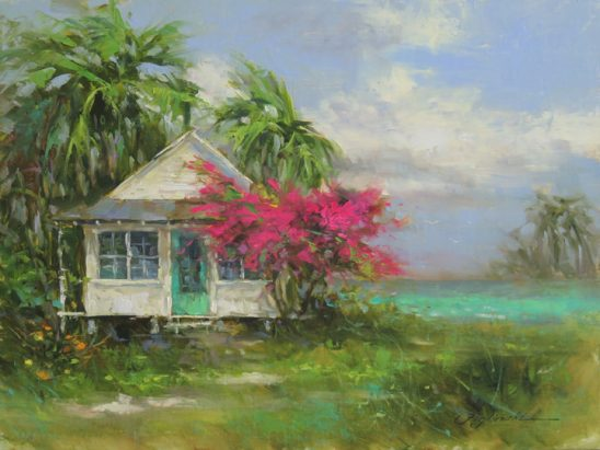 Old Florida Cottage by Martin Figlinski