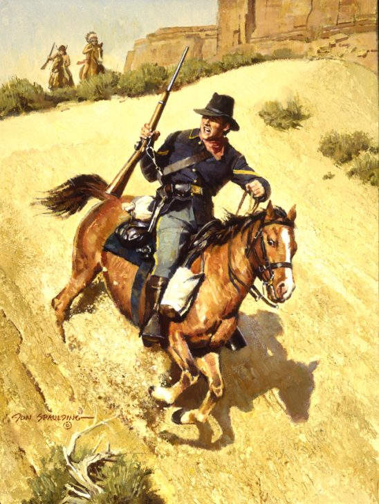 Attack on the Dispatch Rider by Don Spaulding