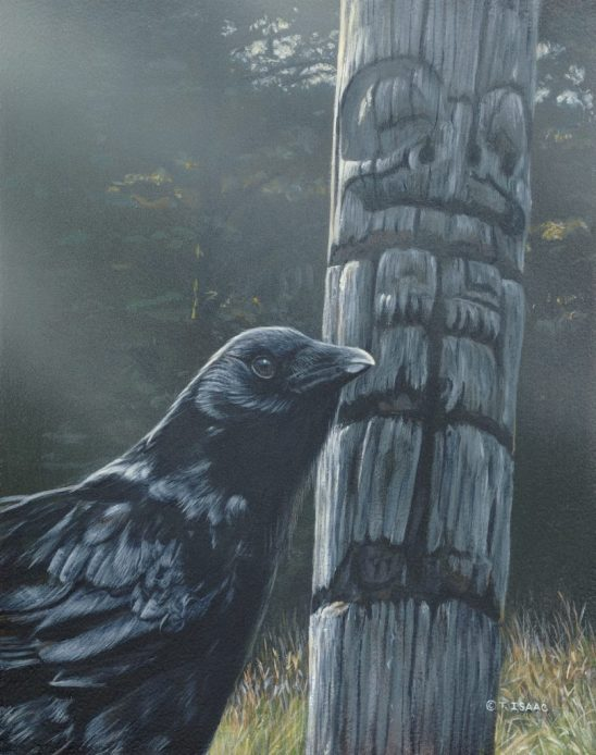 Raven and Totem by Terry Isaac