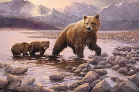 Grizzly Family by Bonnie Marris