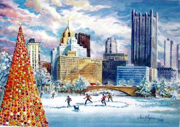 Christmas (Skating) at the Point by Jess Hager