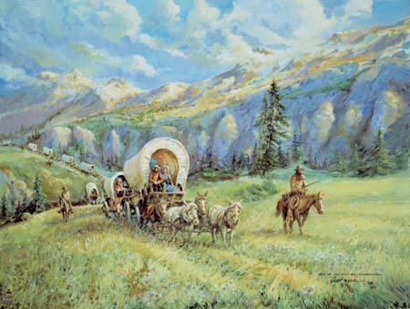 Covered Wagon by Jess Hager