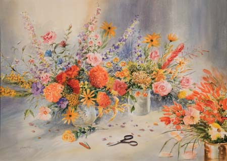 Flower Arranging by Jess Hager