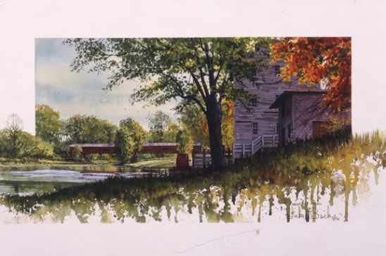 Mansfield Mill and Covered Bridge 9823 by Luke Buck