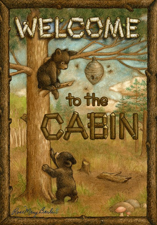 Bear Cubs – Cabin by Rose Mary Berlin
