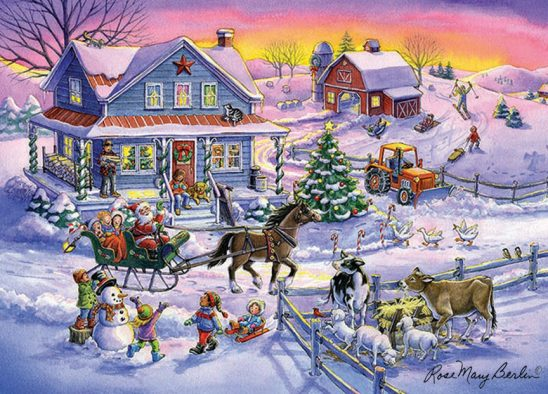 Christmas – Countryside Christmas by Rose Mary Berlin