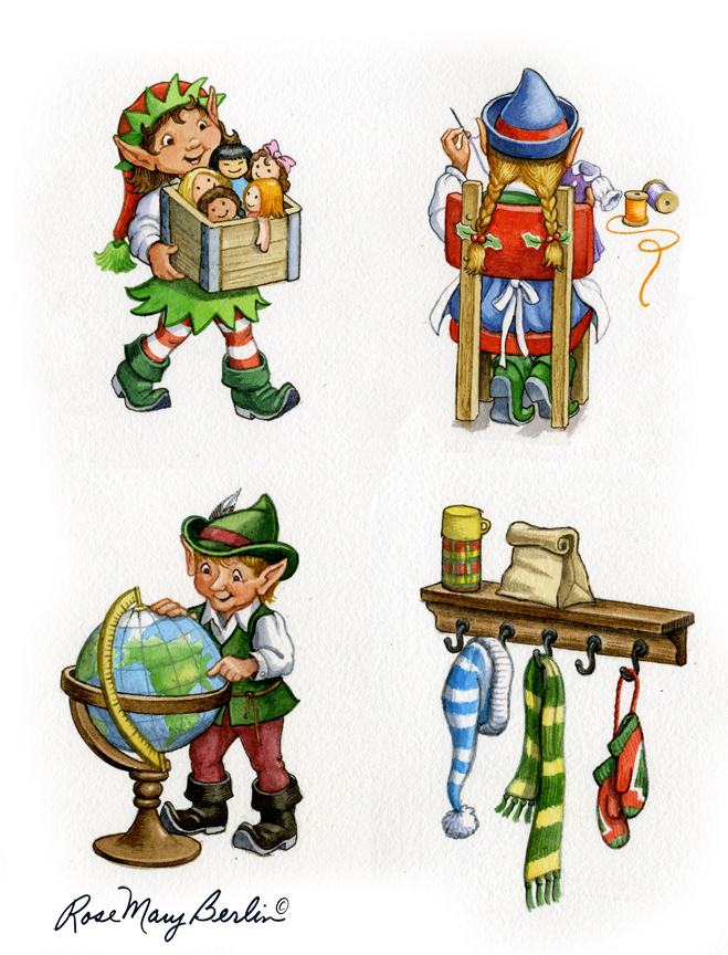 Christmas – Elves by Rose Mary Berlin