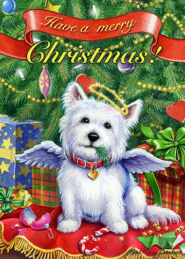Christmas – Have A Merry Christmas – White by Rose Mary Berlin