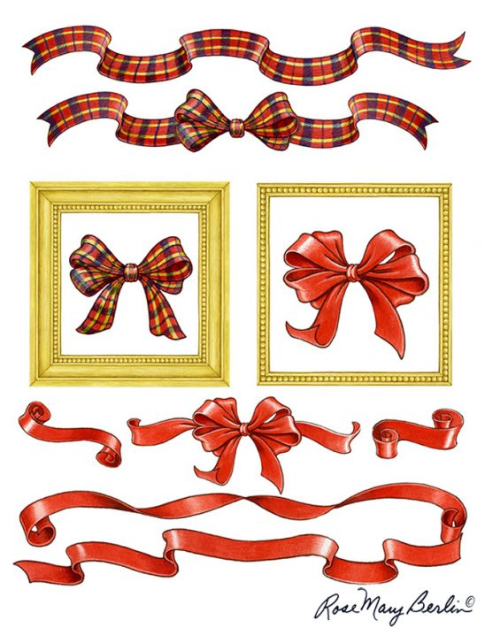 Christmas – Ribbons and Bows by Rose Mary Berlin