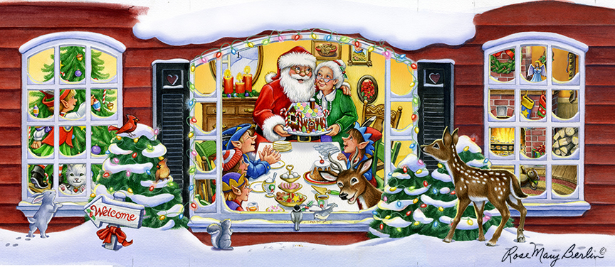 Christmas – Santa's House 2 by Rose Mary Berlin