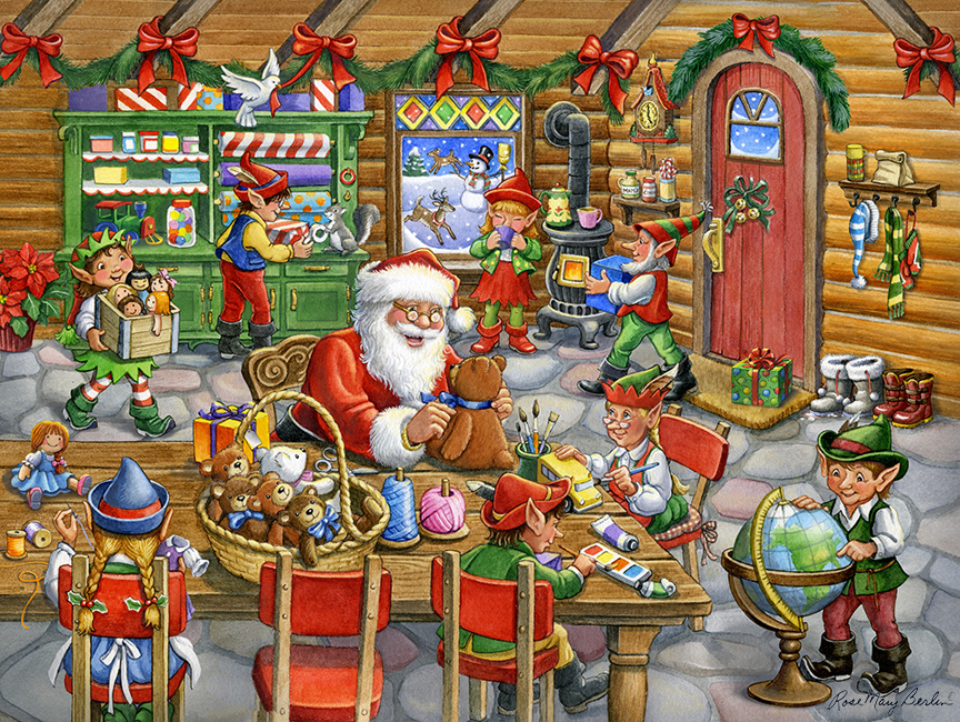 Christmas – Santa's Toy Shop H by Rose Mary Berlin