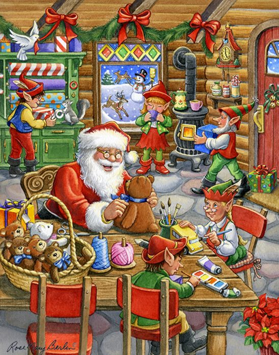 Christmas – Santa's Toy Shop by Rose Mary Berlin