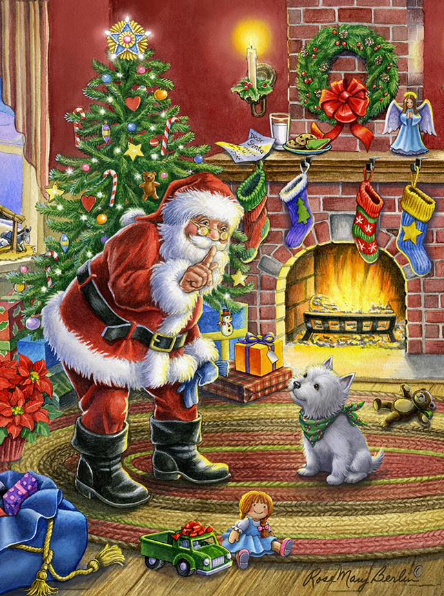 Christmas – Shhh Santa 3 by Rose Mary Berlin