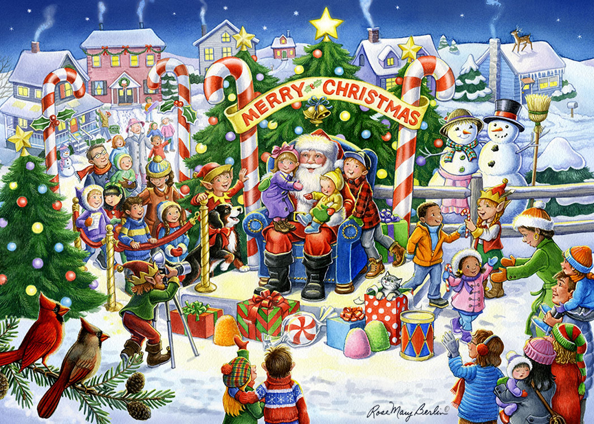 Christmas – Smile for Santa by Rose Mary Berlin