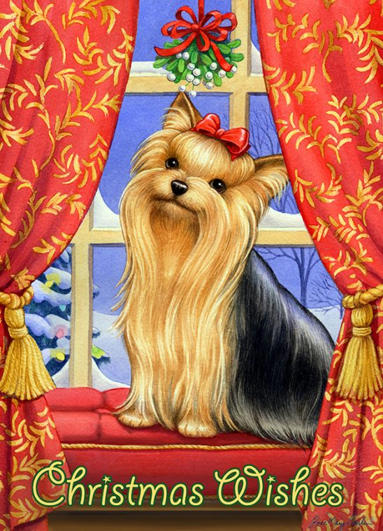 Christmas – Yorkie Christmas Wishes by Rose Mary Berlin