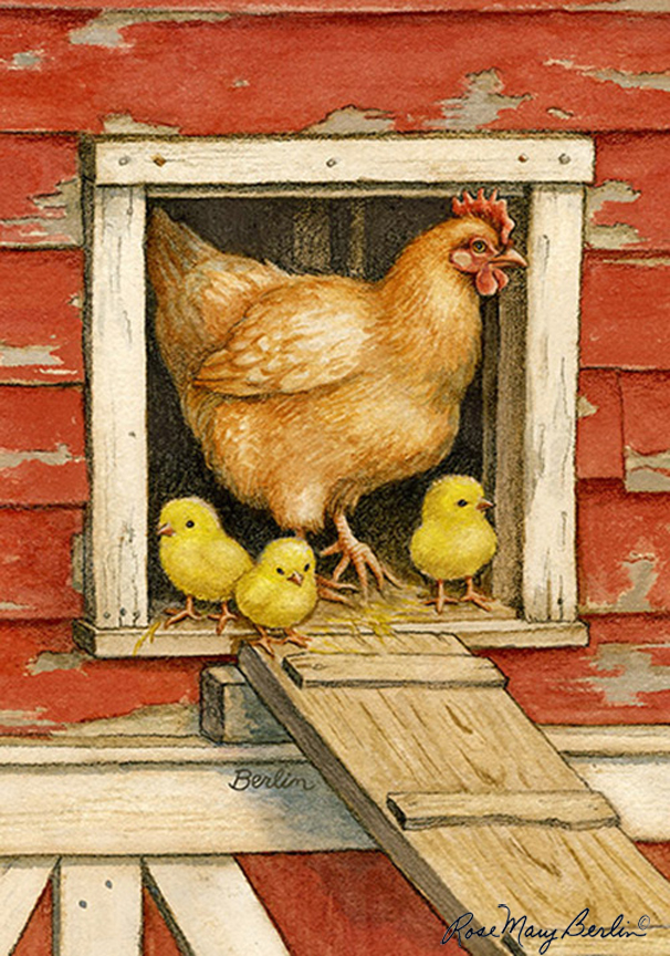 Farm – Hen and Chicks by Rose Mary Berlin
